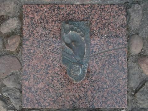 Atminimo plokštė - pėda: Rimantas Ulevičius