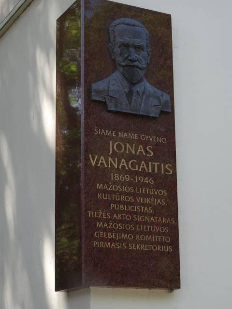 Gedenktafel an Jonas Vanagaitis