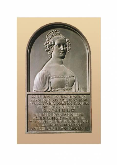 Prūsijos karalienės Luizės bareljefas, skirtas visai karališkajai šeimai atminti