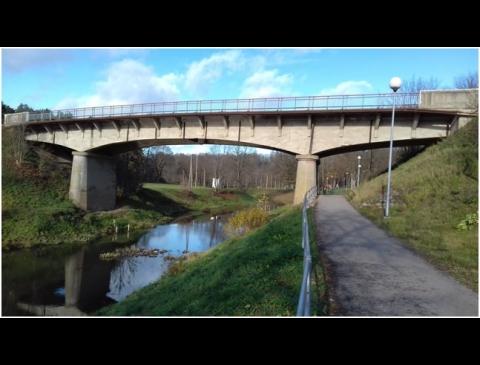 Tiltas per Mituvą. Vyties ženklas