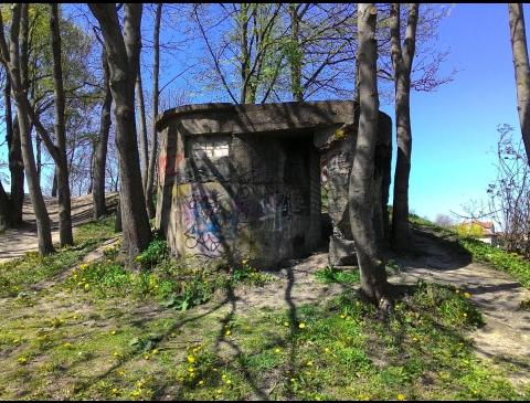 Stebėjimo bunkeris Jono kalnelyje iki užpylimo žemėmis
