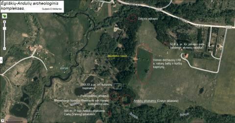 Ėgliškių-Andulių archeologijos paminklų komplekso planas