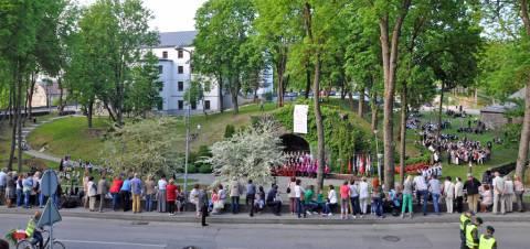 Kretingos Lurdo panorama Dainų ir šokių šventės metu