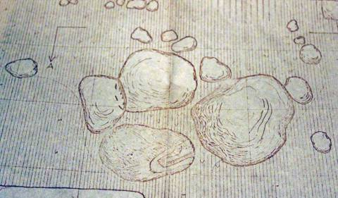 Akmenų išdėstymo brėžinys