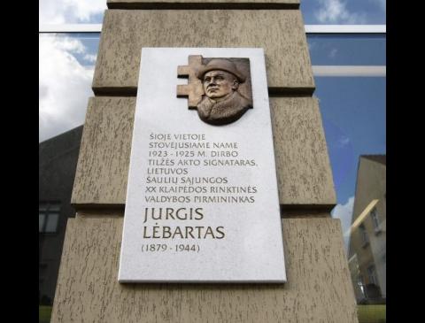 Atminimo lenta Jurgiui Lėbartui