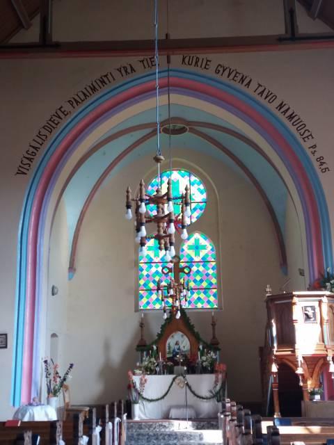 Plikių liuteronų bažnyčios altorius