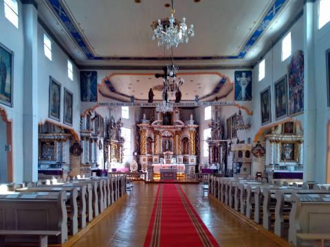 Alsėdžių bažnyčios interjeras