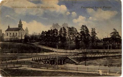Visų Šventųjų koplyčia senosiose Plungės kapinėse 1910 m.