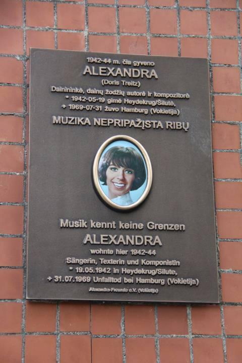 Atminimo lenta dainininkei Aleksandrai (Doris Treitz)