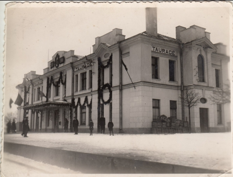 Das Bahnhofsgebäude von Tauragė