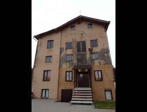 Das Gebäude der motormühle von Tauragė