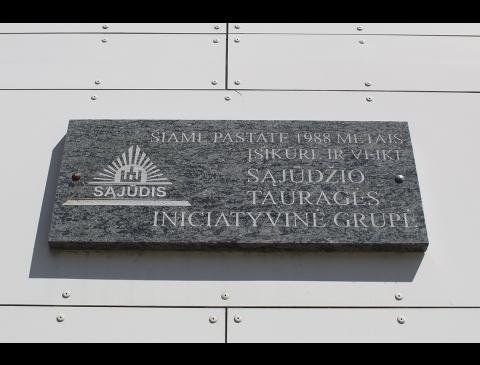 Der hauptsitz der litauischen umgestaltungsbewegung der abteilung von Tauragė