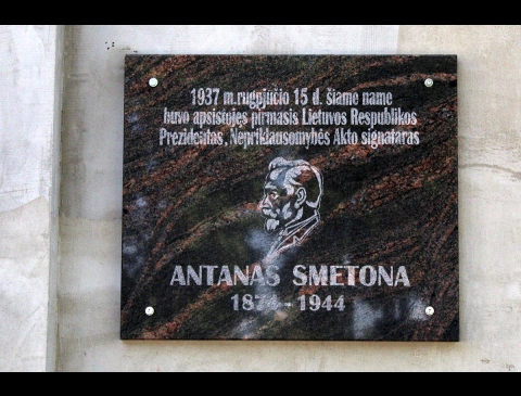 Atminimo lenta Antanui Smetonai