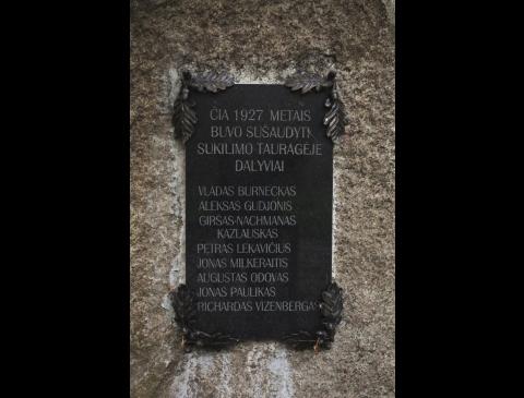 Paminklinė lenta 1927 m. Tauragės sukilimo dalyviams atminti
