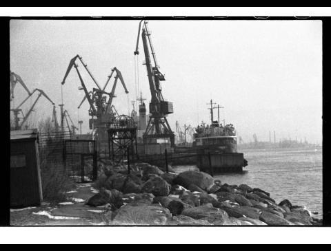 Klaipėdos uosto vaizdas