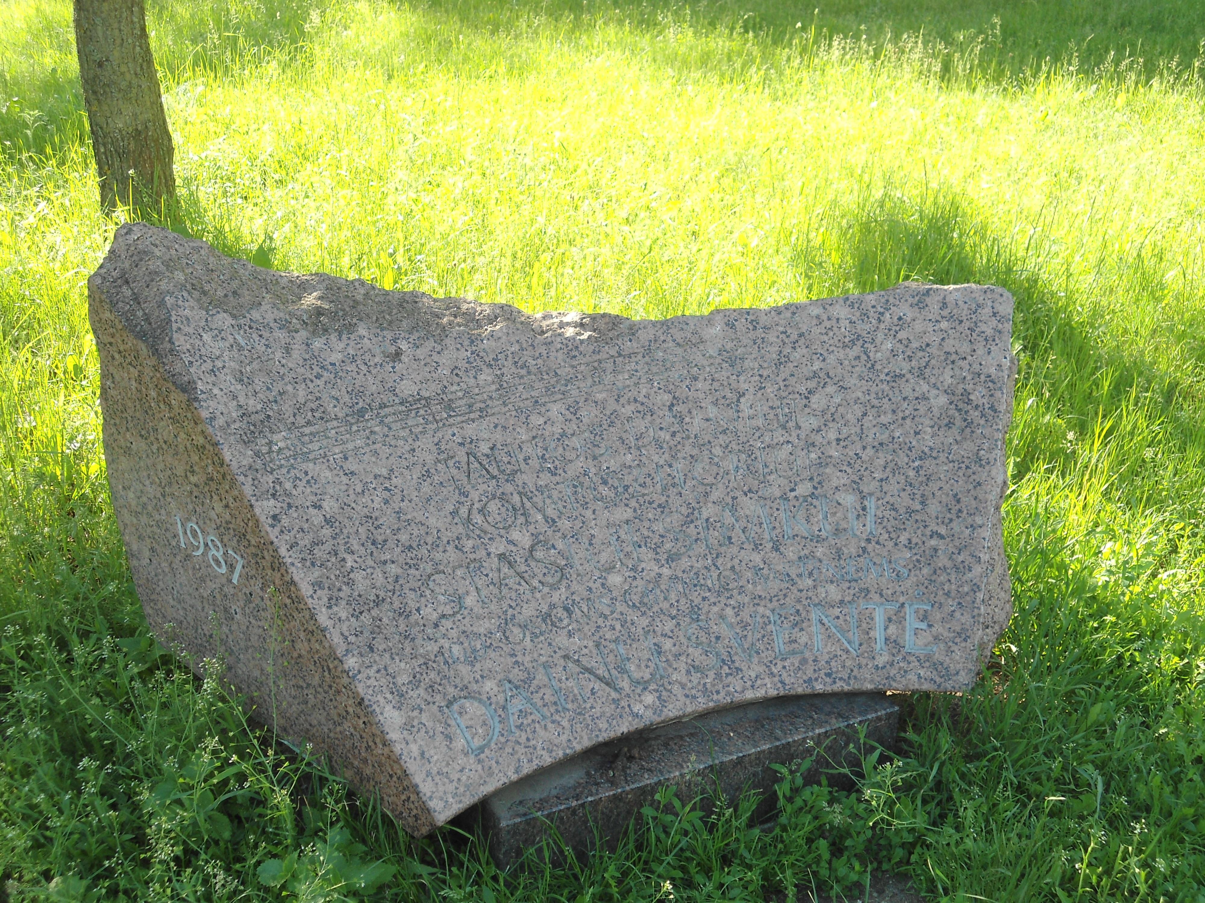 Jubiliejinis akmuo kompozitoriui Stasiui Šimkui