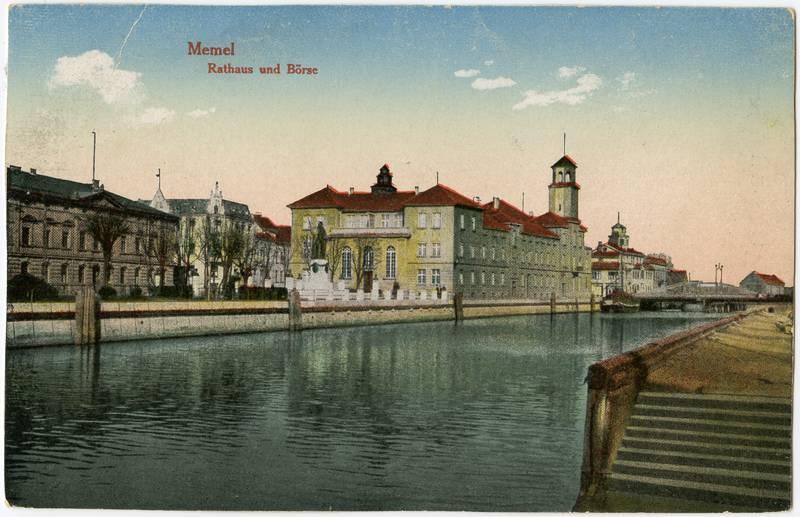 Memel : Rathaus und Börse