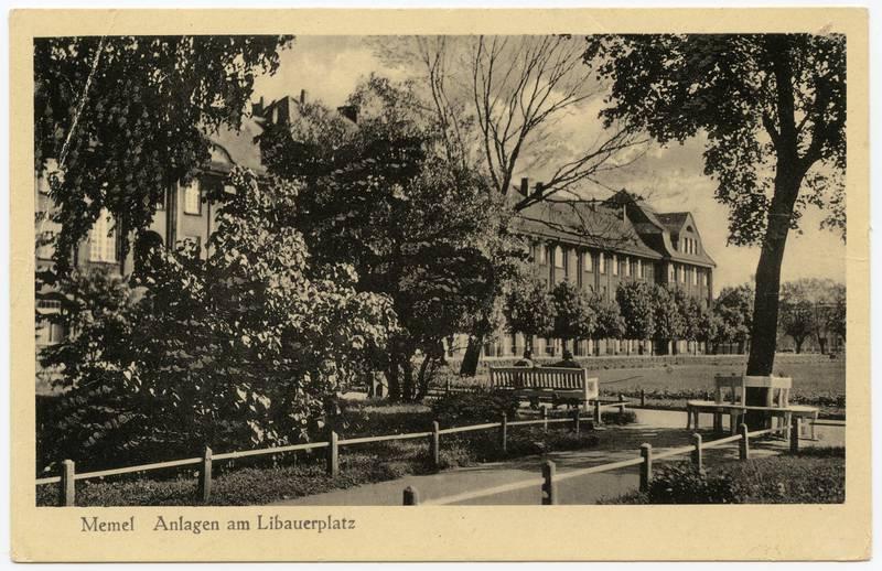 Memel. Anlagen am Libauerplatz