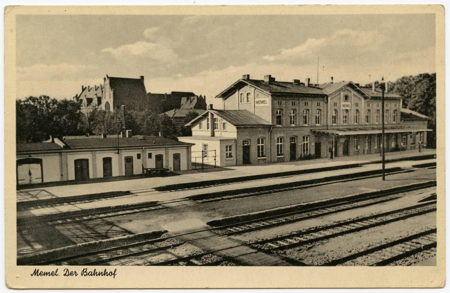 Memel. Der Bahnhof