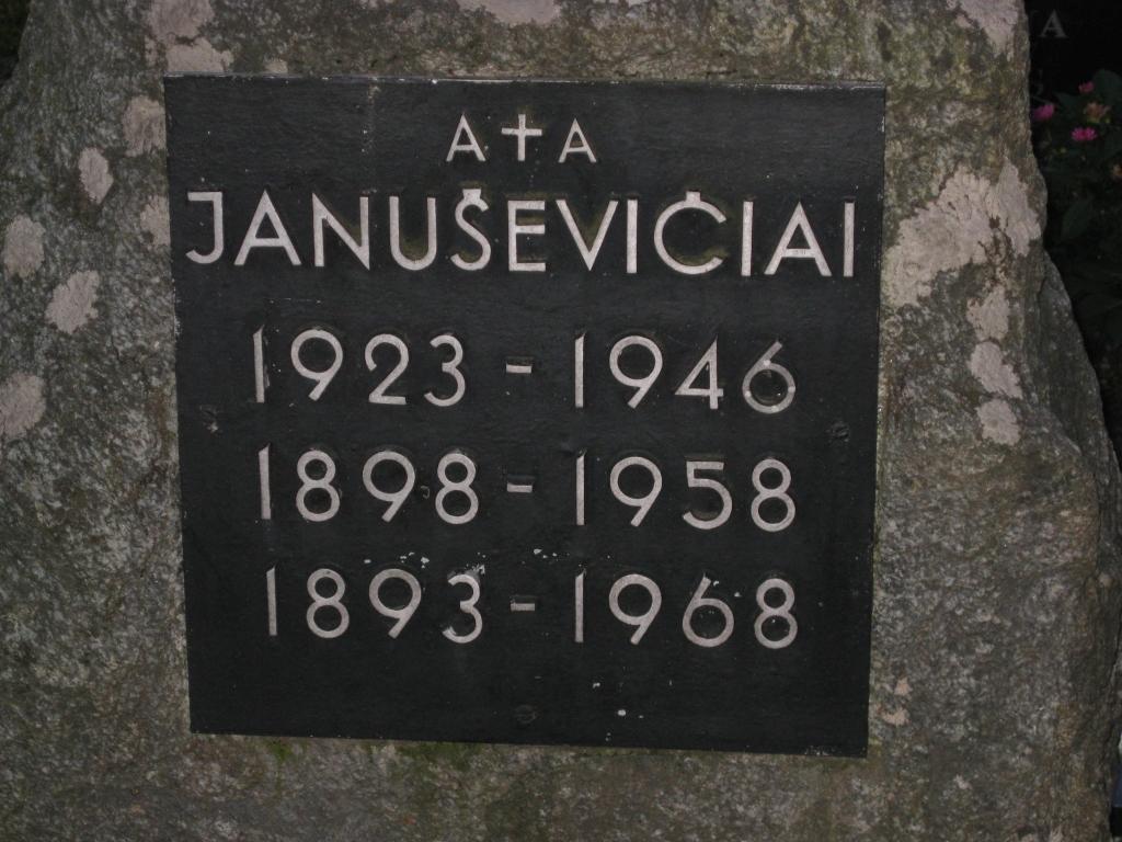 Partizano Juozo Januševičiaus antkapinio paminklo lenta
