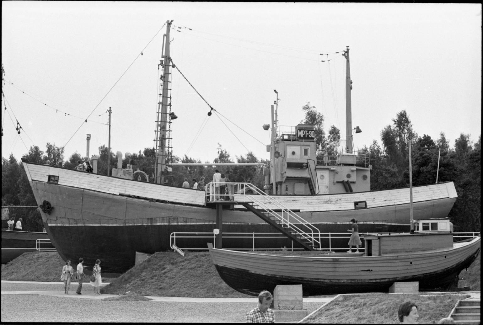 Senųjų žvejybos laivų ekspozicija. Smiltynė