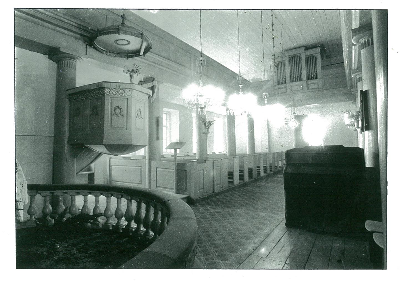 Būtingės evangelikų liuteronų bažnyčios (1824) antrame aukšte, prie vargonų