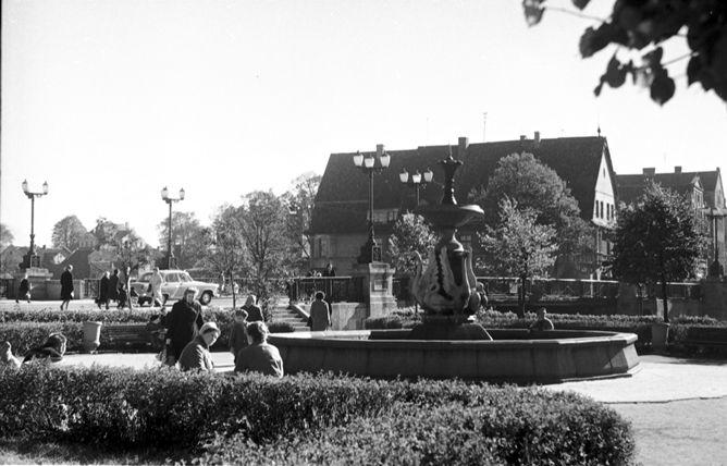 Skveras prie Danės su Gulbių fontanu