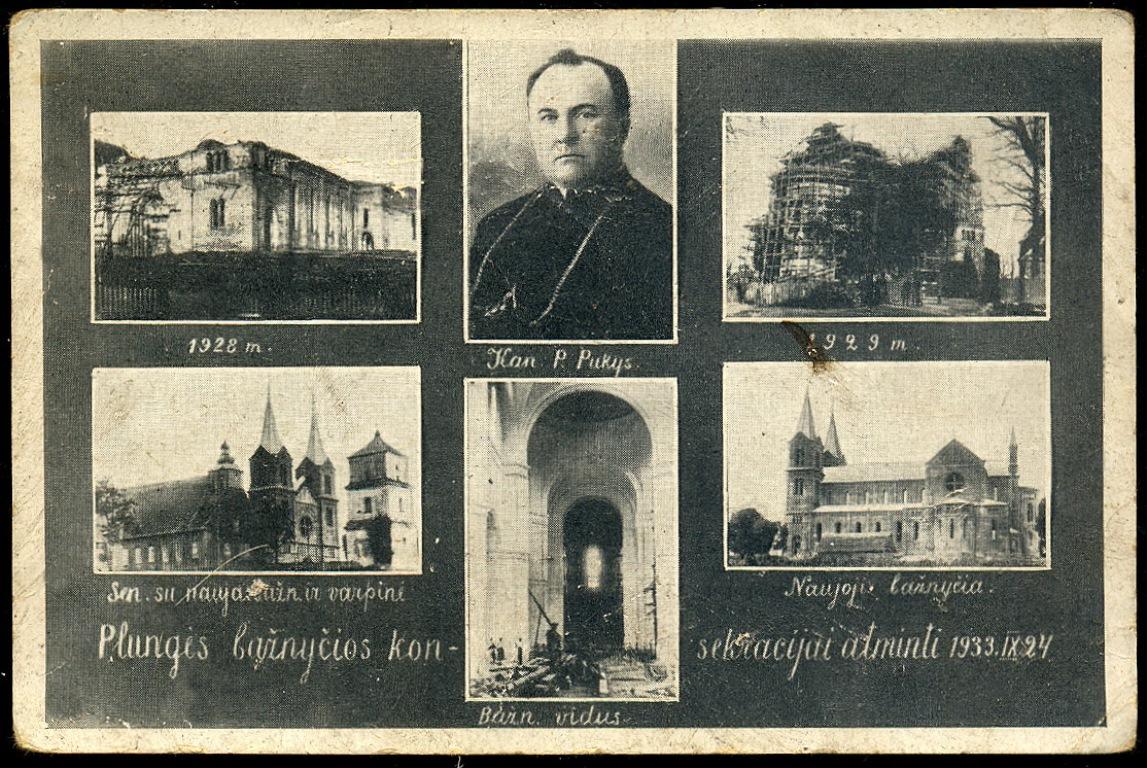 Prelatas Povilas Pukys ir Plungės bažnyčios statyba, 1933 m.