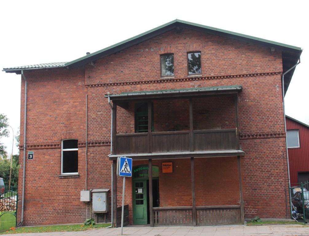Geležinkeliečių Pietų namas nuo gatvės pusės