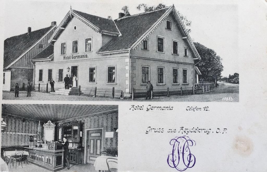 Hotel Germania. Gruss aus Heydekrug